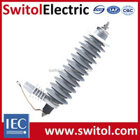 Heavy Duty Distribution Class MOV Polymer Lightning Surge Arrester For Transformer Protection