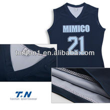cheap mesh new design sublimated custom reversible basketball jerseys