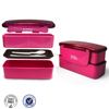 Hot sale BPA free durable manufacturer plastic double layer lunch box