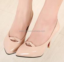 Pretty Steps 2015 wedges Ladies elegant high shoes nude wedding shoe PU loving shoes