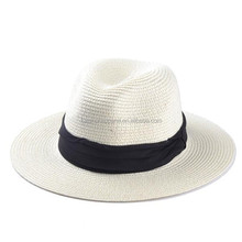 Fashion wide brimmed straw fedora hats wholesale