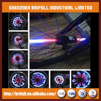 DIY LED bicycle tire fly light for outdoor sports use