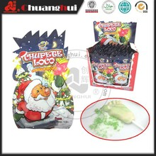 12g Christmas Candy Popping candy with foot Lollipop