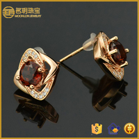 Online jewelry wholesale 925 silver earrings with garnet with direct factory wholesale