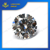 China manufacture 1mm cz gem stone white aaa synthetic rough diamond
