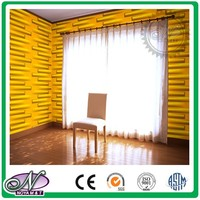 luxurious meeting room golden 3d mdf wave pattern wall panels