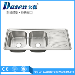 Commercial Heavy Duty Best Stainless Steel Franke Kitchen Sink with Double Bowl