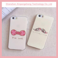 IML transparent soft TPU mobile phone case for iphone 6 plus with sweet printing