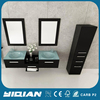 Modern Wall Hang MDF Cabinet with Side Cabinet Bathroom Furniture Vanity