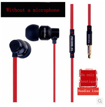 hot NEW 3.5mm Red Earphone Headphone Earbud WIth microphone talk volume control for iphone 4 4th 4s