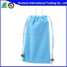 wholesale large black drawstring custom velvet bag for gifts