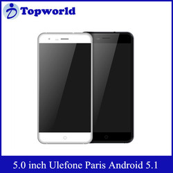 New Arrival Ulefone Paris 5.0 Inch Android 5.1 MTK6753 1.3GHz Octa Core 720P RAM 2GB ROM 16GB 4G LTE Mobile Phone