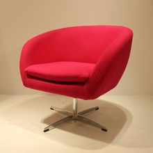European bright color fabric cafe chair /New design swivel leisure chair