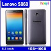 "Original Lenovo S860 WCDMA 3G Phone 4000mAh battery Quad Core MTK6582 1.3GHz 5.3"" IPS 720P Android 4.2 1GB 16GB 8.0MP Camera OTG"