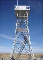 Angle lattice high platform multifunction steel guard tower