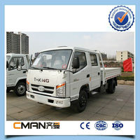 2015 China new T-king double cab 4x2 2 ton diesel mini truck for sale