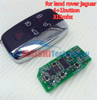 MS car key for land rover jaguar 5 button smart card remote key 315 mhz with uncut small key