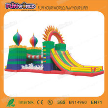 Cheap price large outdoor inflatable fun city for sale