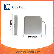 uhf long distance rfid reader with 9dbi antenna build in