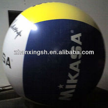 2014 shanghai zhanixng hot sale cheap and durable pvc m&m inflatable beach ball