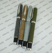 Original Design Unique Fountain Pen Metal and Fabric Liquid ink Pen One-off Cartridge or Pump Refill Office & School Stationery