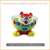 3D Hand-Painted Animal Shape Cartoon Ceramic Salad Bowl