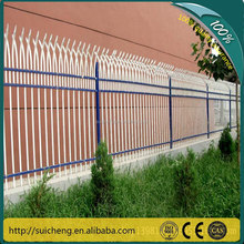 cheap wrought iron fence parts, cheap prefab fence panels, prefabricated steel fence (Guangzhou Factory)