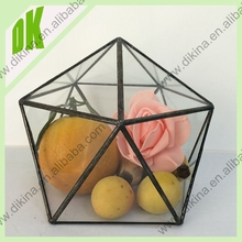 wholesale china made large glass terrarium+New promotion price for arrange flower vase glass ball handmade clear glass terrarium