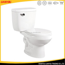 Made in china two piece porcelain toilet, wc toilet