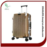 Newly design elegant pc luggage/ 2015 best selling suitcase/fashion travel bag