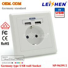 New Design High Quality USB Wall Socket EU With CE&RoHS