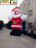 CILE 2015 hot selling customized Inflatable Giant Santa claus model