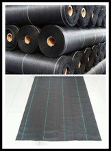 "36"" x100' 700g black color pp woven fabric as weed control"
