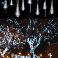 20 Meteor Shower Rain Tubes LED Light For Christmas Wedding Garden Decoration 100-240V/EU White