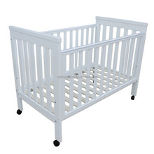 4 in 1 multifunction wooden baby cot bed with wheel