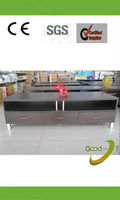 fsc melamine wooden modern led tv stand factory