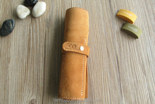 large suede leather pen bag ,Customized pen bag/pencil bag