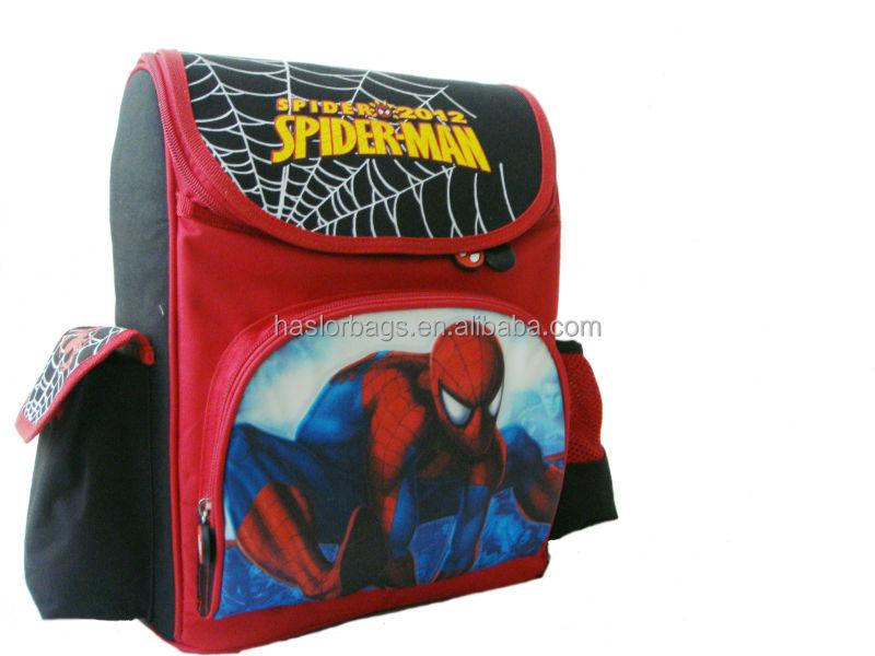 Rouge Polyester Unique mignon sac à dos Spider Man mode sac d'école des enfants