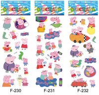 free shipping wholesale 10000pcs Children toys 3D puffy stickers 7*17 cartoon Christmas gift lovely pig kids stickers