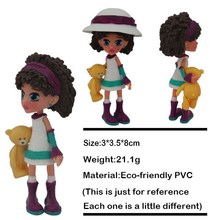 novelty plastic small doll for kids ,light up doll house