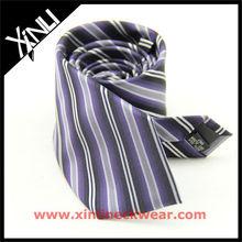 Black Purple Striped Design Your Own Tie, Stripe Necktie