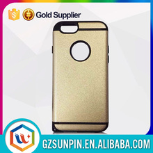 heat dissipation aluminum brass gold plating back slim armor cover case for iphone 5s