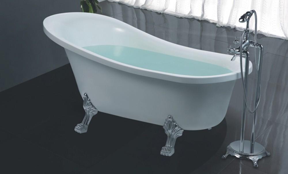 Hs b518 italia acrilico freestanding vasca da bagno con i piedi ...
