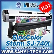 Roll to Roll Digital Flex Banner Printing Machine Sinocolor SJ740i With Epson DX7 Head