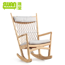 2196 antique rocking chair wooden recliner chair