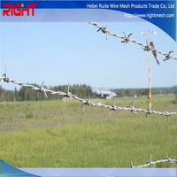 China suppliers high quality barbed wire fencing cost price for sale