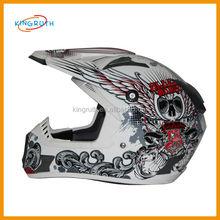 Good ABS full face dirt bike racing motorcycle skull cool full face custom helmet