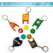 promotion plastic coin keychain series