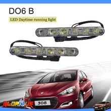 Spuer brighter& hot sale!! 12V DC 6W/pcs Car LED Daytime running lights Car flexible led drl/ daytime running light