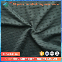 grey color 92 poly 8 spandex breathable mesh fabric for sports shoes